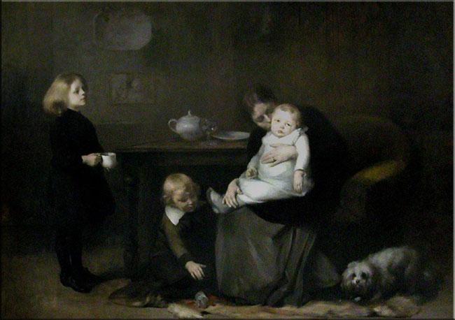 l'enfant malade. Eugène Carrière (1885) Musée d'Orsay